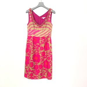 NANETTE LEPORE SILK FLORAL DRESS SIZE 2 must have